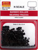 Micro-Trains N 00310040 (1036-10) Barber Roller Bearing Trucks without Couplers (10 pair, Assembled)