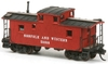 American Model Builders N 552 CF Class Wood Cupola Caboose Laser-Cut Wood Kit, Norfolk and Western