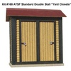 "American Model Builders HO 168 Laser-Cut Wood Kit, 2 ATSF Standard Double-Stall ""Yard Closets"" (2-pack)"