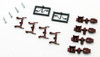 Micro-Trains N 00125301 (1301-10-B) True-Scale Coupler with Long Shank (10 Pair, Brown)