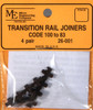 Micro Engineering HO 26-001 Insulated Transition Rail Joiners Code 100-83 (4 pair)
