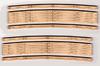 """Blair Line N 013 Laser-Cut 20""""-23"""" Radius Curved Wood Grade Crossing (2 sets)"""