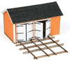American Model Builders HO 191 Cullen Handcar Shed Kit