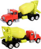 American Heritage Models O 50003 Cement Mixer Truck, Red and Yellow (1:50)