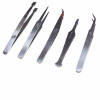 A.E. Corporation TW-5 Tweezer Set (Set of 5, Stainless Steel)