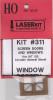 American Model Builders HO 311 Screen Doors and Windows for HO Kit #123, the Corydon General Store & Post Office