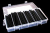 """A.E. Corporation HS-4901 Heat Shrinking Tubing 4"""" Lengths Ranging from 1/16"""" to 3/8"""" Diameters with Plastic Compartment Case (154 Count)"""