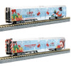 Kato N 1062016A Operation North Pole ONP, Two-Unit Add-on Christmas Train Set with Bookshelf-Style Case