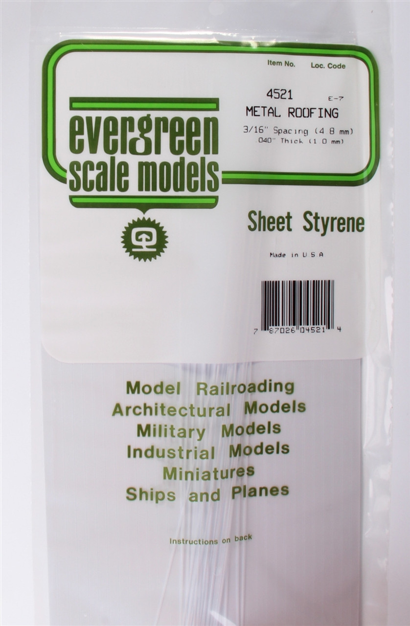 Evergreen Scale Models 4522 Standing Seam Roof 14 Spacing