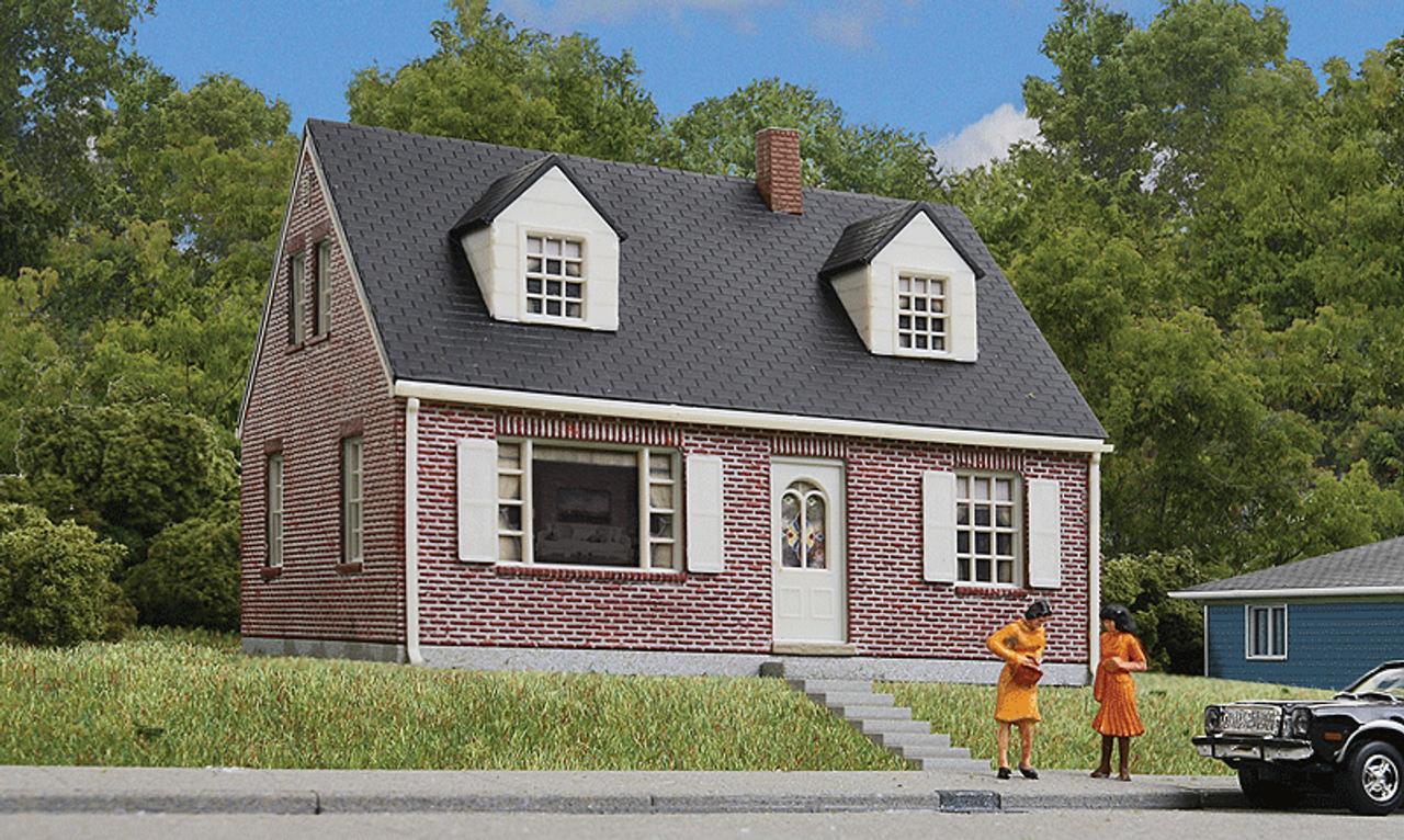 walthers cornerstone ho 933 3774 brick cape cod house kit