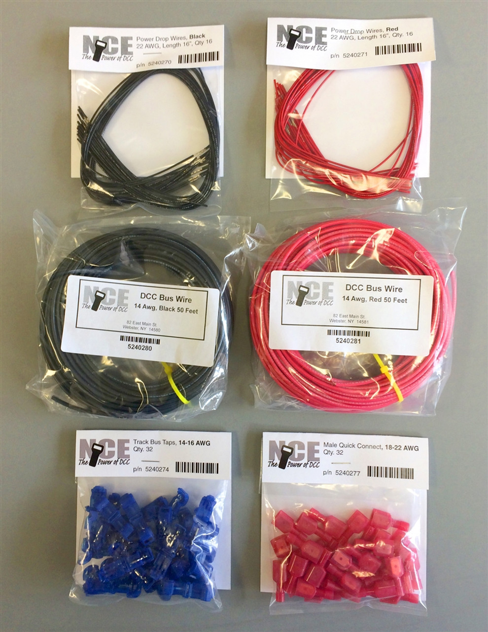 NCE 524268 DCC Main Bus Wiring Kit For Typical 50 Foot Double Track Mainline