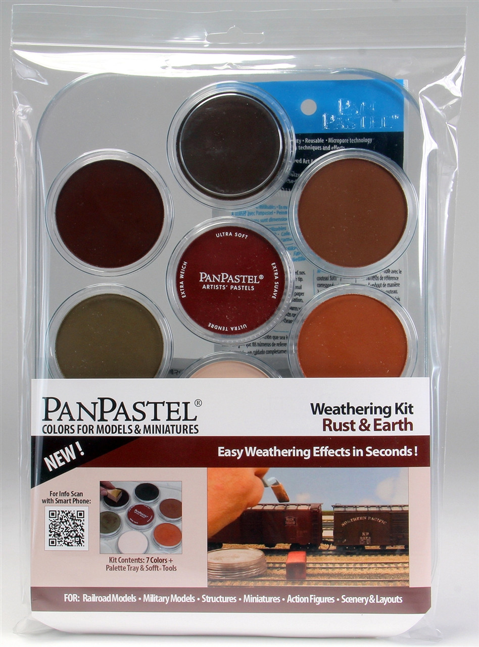 PanPastel 30701 7-Colors Weathering Kit, Rust and Earth ...