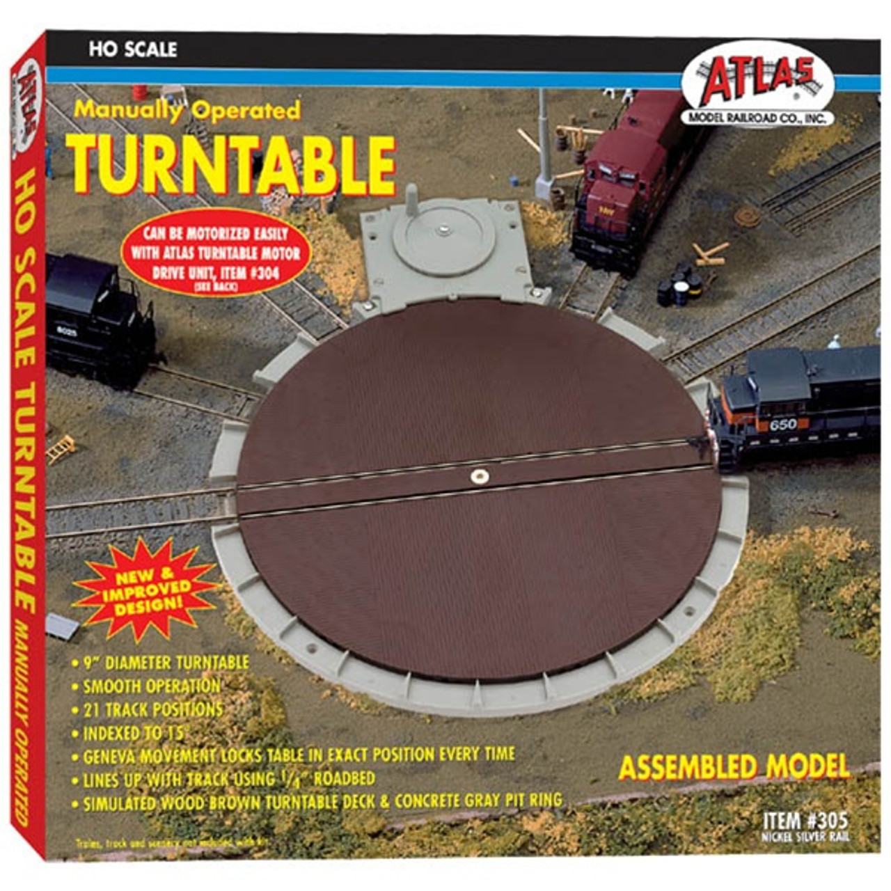 atlas ho 305 manual turntable modeltrainstuff com rh modeltrainstuff com Atlas Switch Wiring Atlas Turn Out Wiring-Diagram