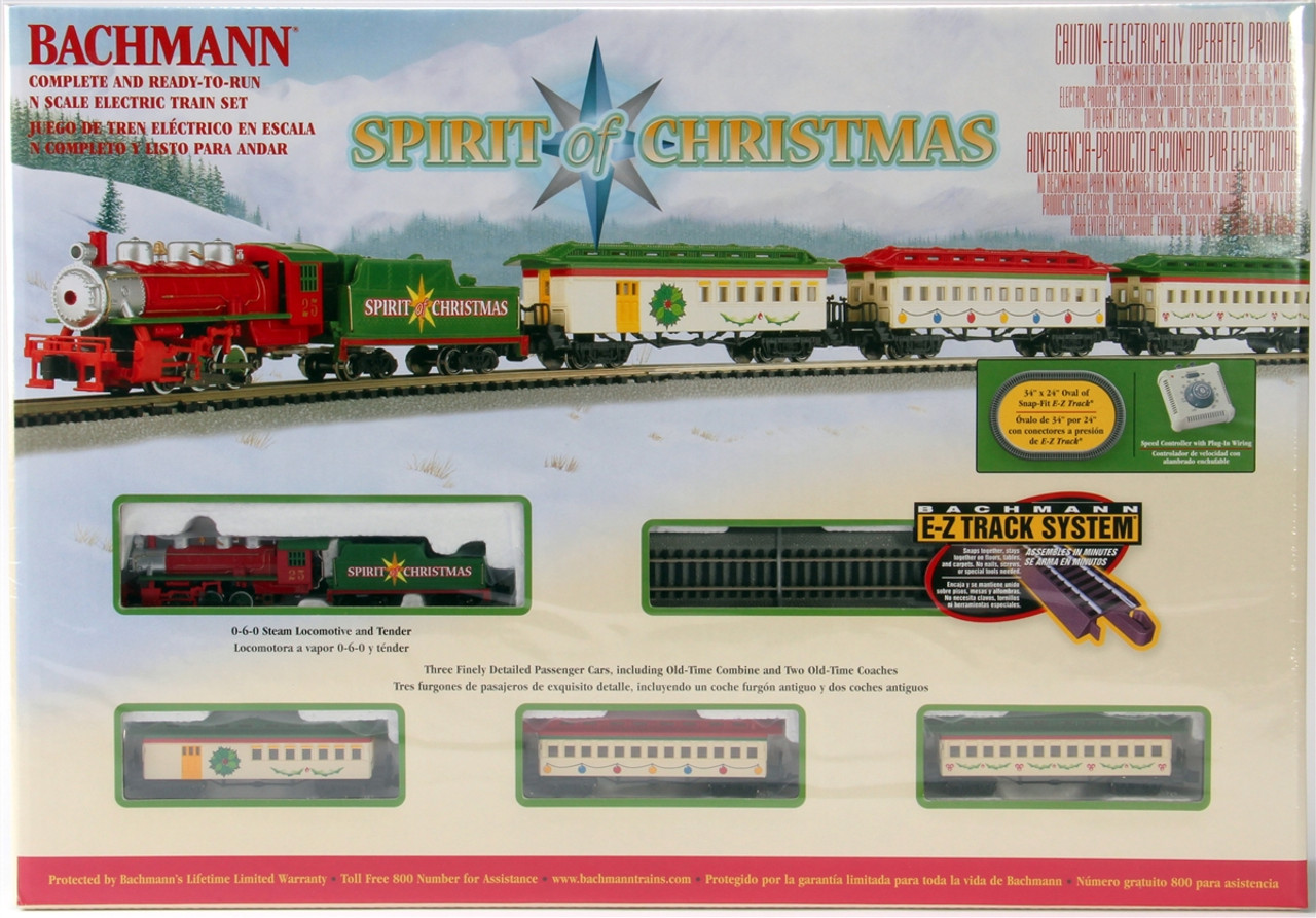 Model Train Set Bachmann Spirit Of Christmas Stuff Track Switch Wiring Schematic N 24017 Electric With E Z