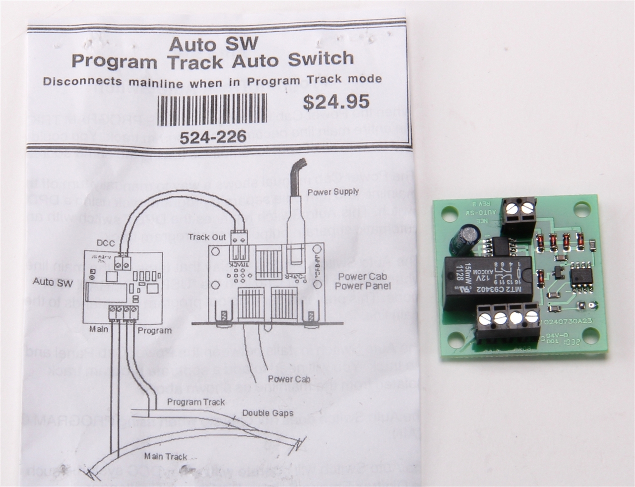 NCE 524226 (Auto-SW) Program Track Auto Switch