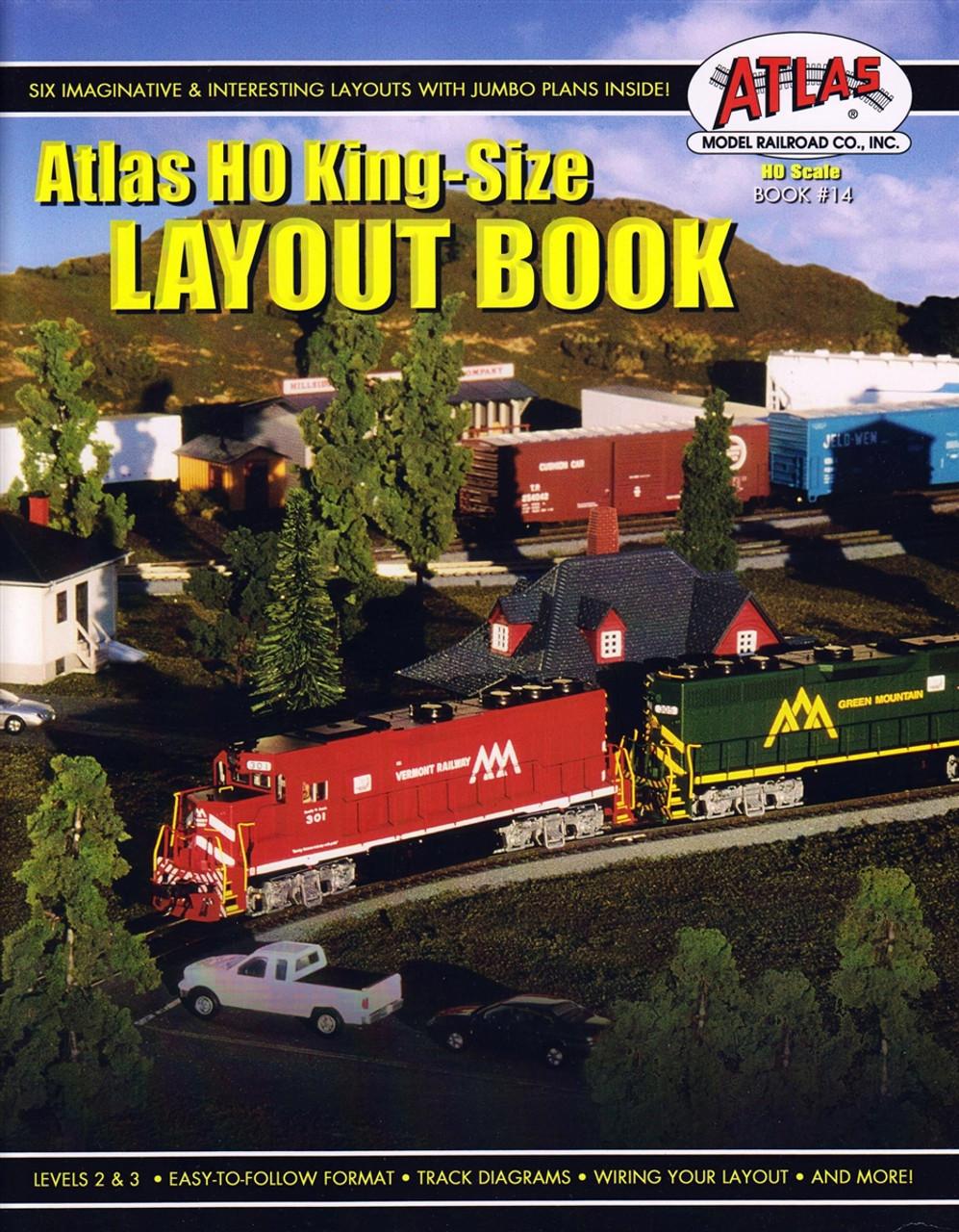atlas ho king size layout book book 14 modeltrainstuff com rh  modeltrainstuff com Lionel Track Wiring DCC Track Wiring