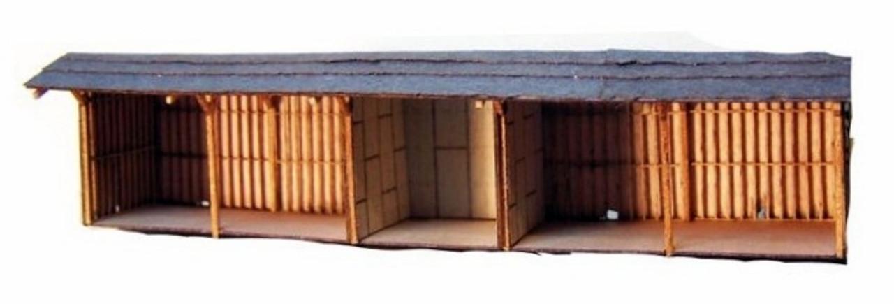 RS Laser Kits N 3009 5 Bay Open Storage Shed Kit