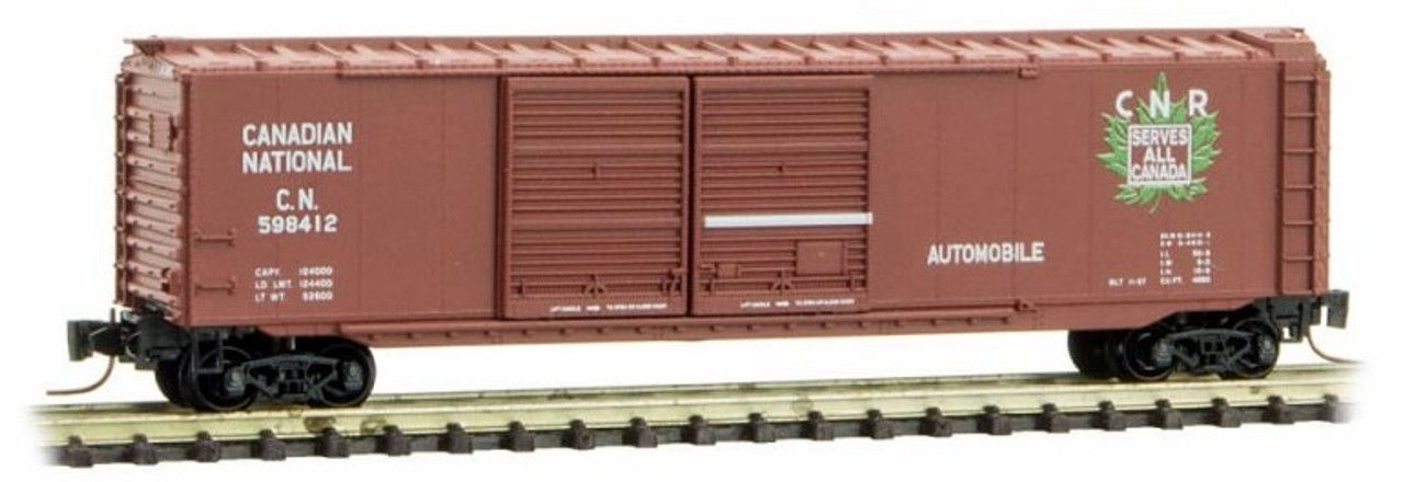 Micro-Trains Z 50600372 50\u0027 Standard Box Car with Double Doors Canadian National : national doors - pezcame.com