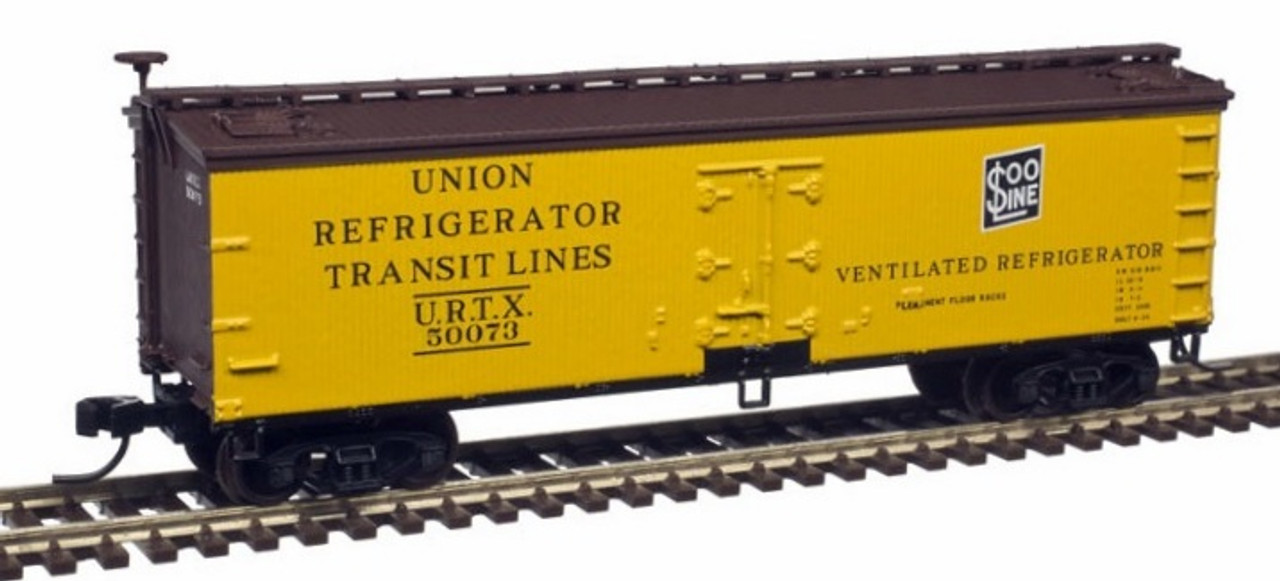 N Scale - Atlas - 50003885  - Reefer, Ice, Wood - SOO Line - 50052