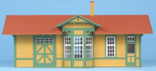 American Model Builders O 474 Santa Fe No. 1 Standard Single Story Depot, Kit