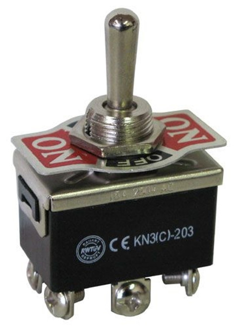 A.E. Corporation STS-60 DPDT Center-Off Heavy Duty Toggle Switch 15A