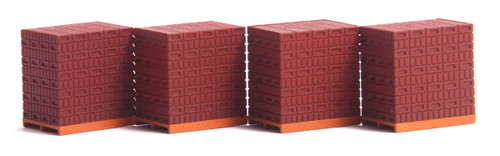 American Heritage Models O (1:50) 43-907 Red Brick Pallets (4)