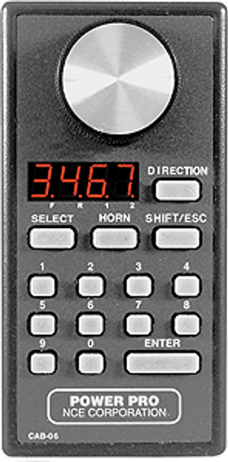 NCE 524039 (CAB06) Handheld Engineer Throttle with LED Display
