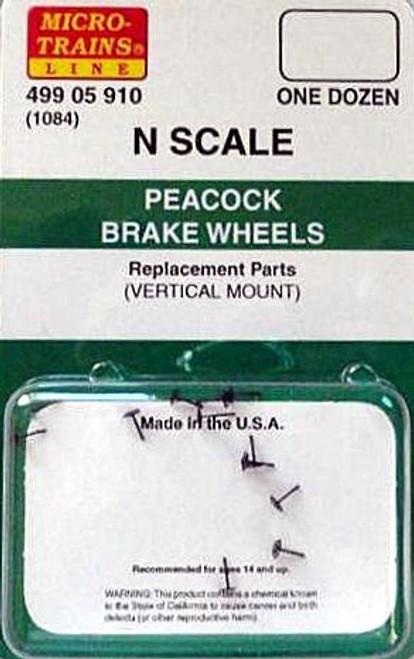 Micro-Trains N 49905910 (1084) Peacock Brake Wheels (12 pack)