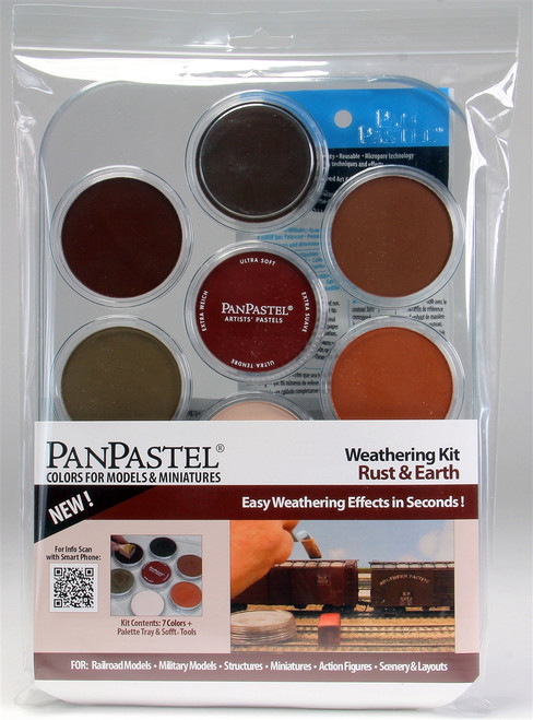 PanPastel 30701 7-Colors Weathering Kit, Rust and Earth Mix