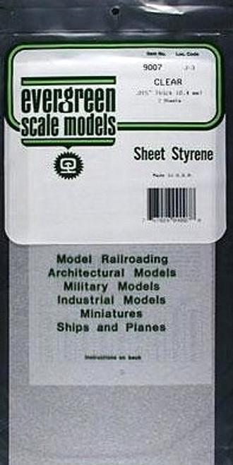 "Evergreen Scale Models 9007 Clear Sheet .015"" (2)"