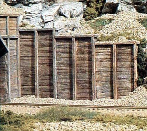 Woodland Scenics HO C1260 Timber Retaining Walls (3)