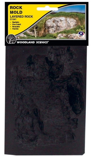Woodland Scenics C1241 Layered Rock Mold