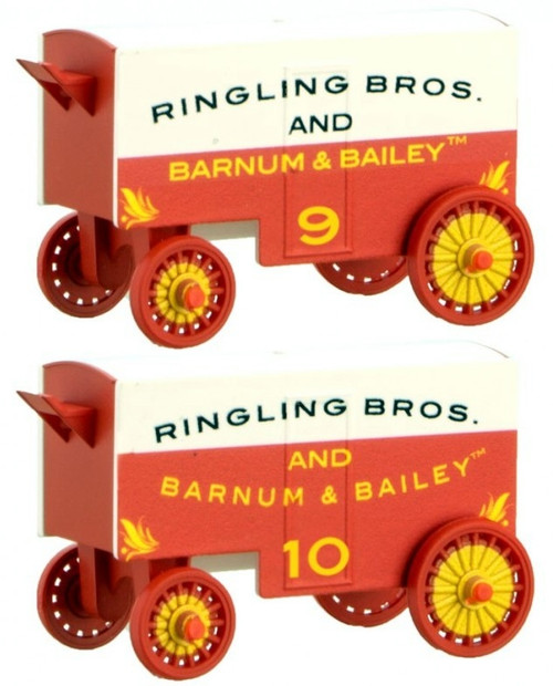 Micro-Trains N 47000249 15' Closed Vintage Wagons, Ringling Bros. and Barnum & Bailey #9/10 (2-Pack)