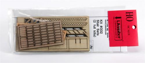 American Model Builders HO 332 Stair Set Kits (2 kits)