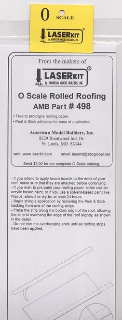 American Model Builders O 498 Rolled Roofing Strips