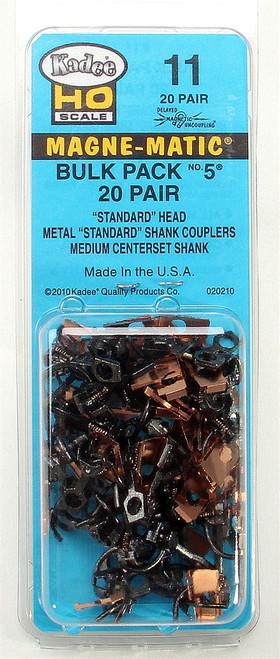Kadee HO 11 Metal Couplers Bulk Pack No. 5 (20 pair)