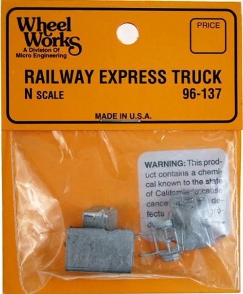 Micro Engineering N 96-137 Railways Express Truck Kit, 1920s-1940s Era