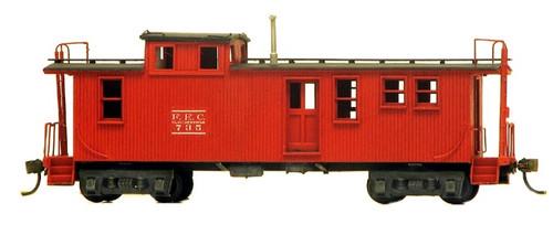 American Model Builders HO 872 Florida East Coast Railway Wood Cupola Caboose Kit
