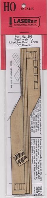 American Model Builders HO 299 Lifelike Proto 2000 Wood 50' Boxcar Roof Walk