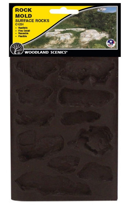 Woodland Scenics C1231 Surface Rocks Mold