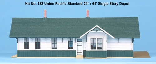 American Model Builders HO 182 Union Pacific Standard 24' x 64' Depot Kit