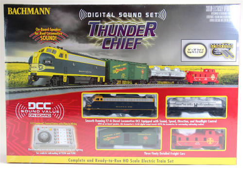 Bachmann HO 00826 Thunder Chief DCC Train Set, Santa Fe (DCC sound-equipped)