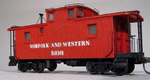 American Model Builders HO 864 N&W Norfolk and Western Class CF Wood Cupola Caboose Kit