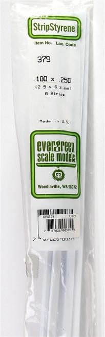 "Evergreen Scale Models 379 24"" Strip Pack .100"" x .250"" (8)"