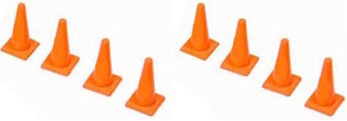 American Heritage Models O 43-909 Orange Safety Cones (8) (1:50)