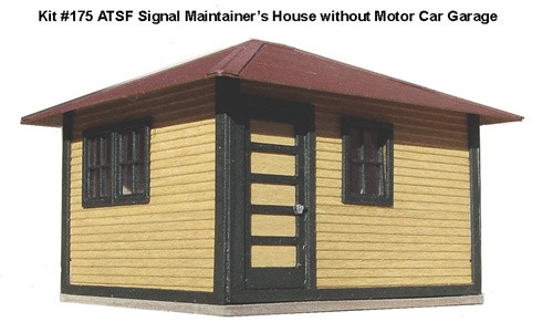 American Model Builders HO 175 Material House for Signal Maintainer without Motor Car Kit