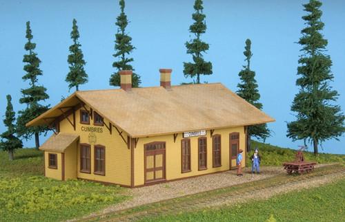 American Model Builders HO 155 Laser-Cut Wood Kit, Cumbres Depot