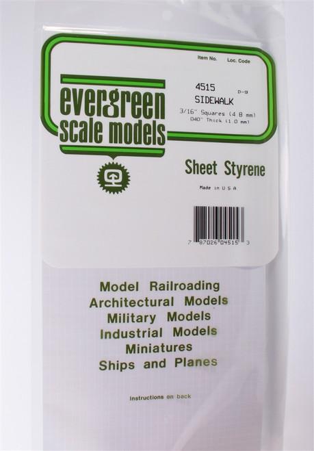 """Evergreen Scale Models 4515 Sidewalk 3/16"""""""