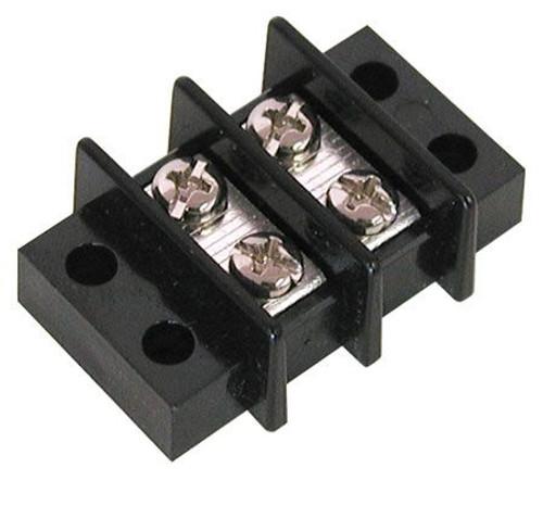 A.E. Corporation TS-302 2-Position Dual Row Strip, 25 AMP