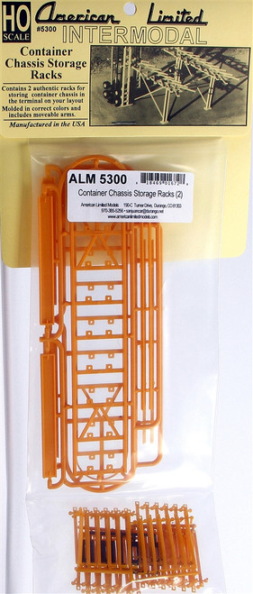American Limited HO 5300 Container Chassis Storage Racks Kit (2)